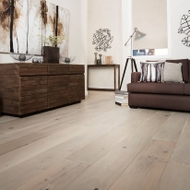 "YUKI ""Ghost White"" European Oak Engineered Floorboards - (1.94 SQM box) - $118.95 per SQM - Extra-Wide 2200mm x 220mm x 20mm"