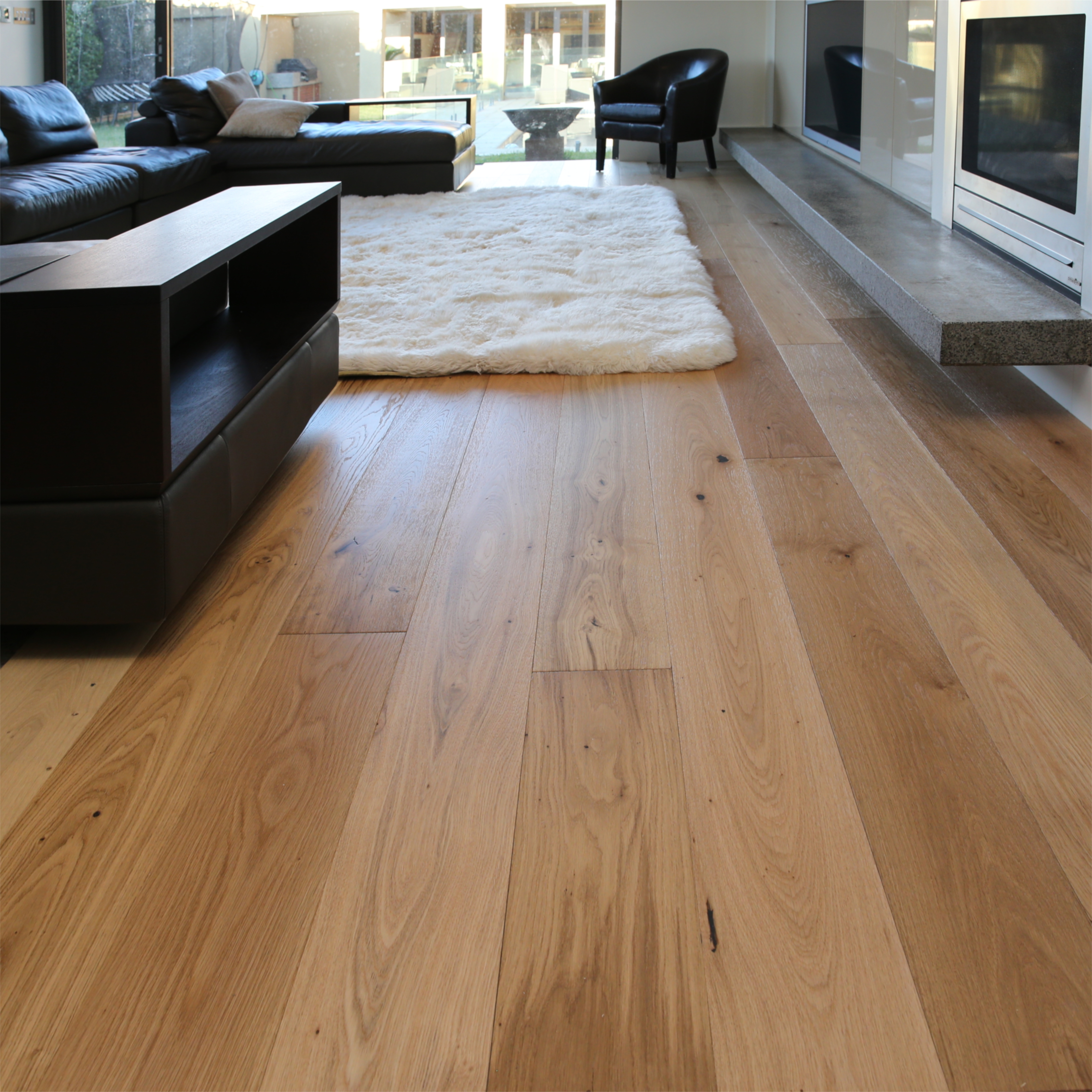 oak floorboards interior living space