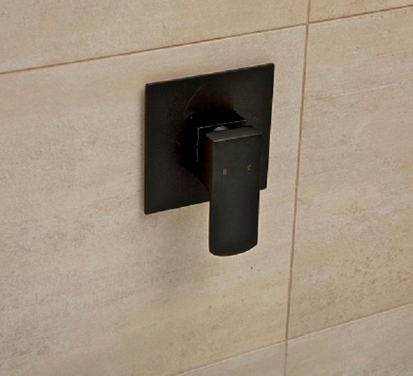 terrus matte black wall mixer