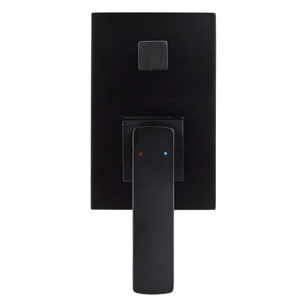 Aguzzo cortina wall mount mixer with converter matte black