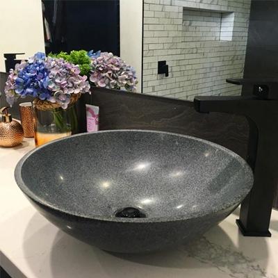 granite basin, bathroom sink, stone basin