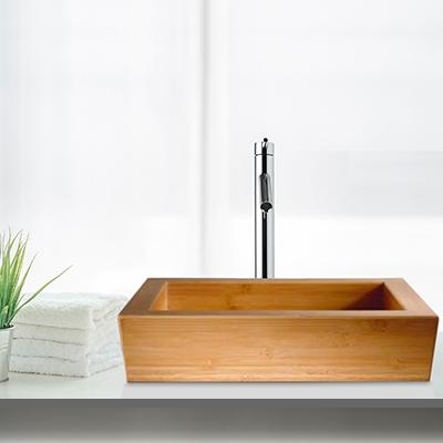 bamboo - bathroom sink, angular bamboo basin, round bamboo basin, lagoon basin