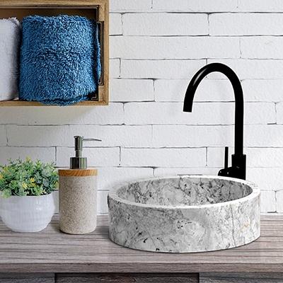 white marble basin, round marble bathroom basin, rectangle bathroom basin
